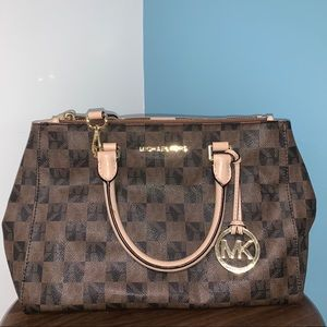 Michael Kors Brown and Tan Speckled Tote